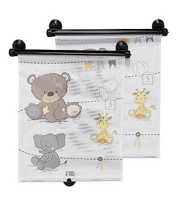 mothercare retractable sunblind (2 pack) - teddy's toy box
