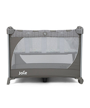 Joie Commuter Travel Cot With Customclick Woodland Mint Exclusive To Mothercare