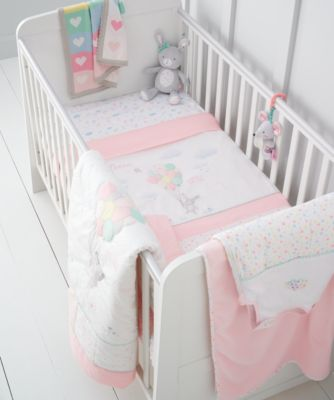 confetti party fitted cot bed sheets - 2 pack