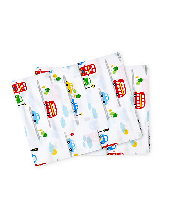 on the road fitted cot bed sheets - 2 pack