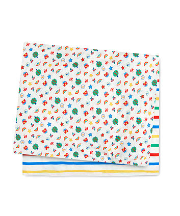 little bird fitted cot bed sheets - 2 pack