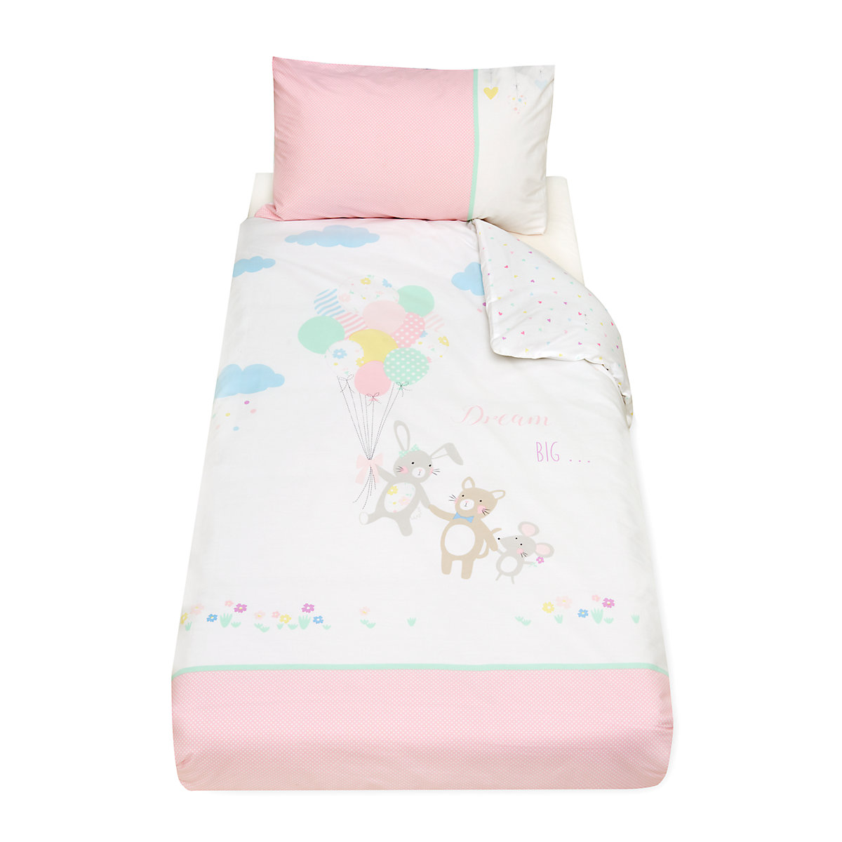confetti party cot bed duvet set