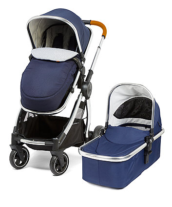 mothercare journey edit pram and pushchair - classic navy