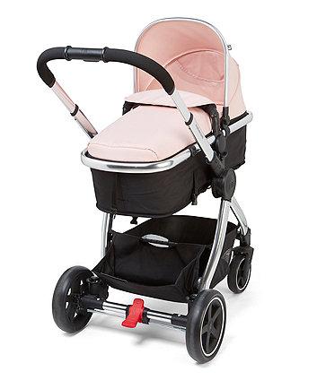 mothercare 4-wheel journey chrome travel system - blush