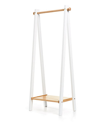 mothercare lulworth clothing rail - classic white