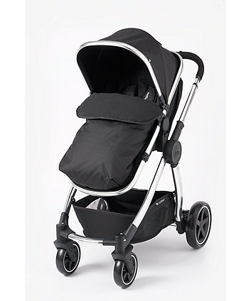 mothercare 4-wheel journey chrome travel system - black