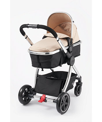mothercare 4-wheel journey chrome travel system - sand