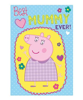 peppa pig mummy pig birthday card