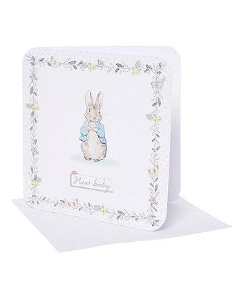 peter rabbit new baby card