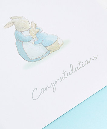 peter rabbit baby boy card