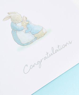 peter rabbit baby boy card