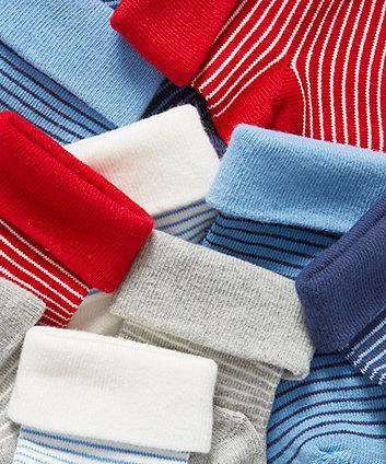 bright stripe turn-over-top socks - 5 pack