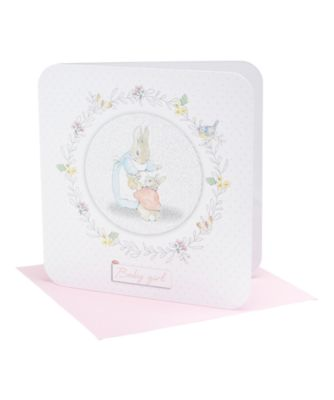 peter rabbit baby girl card