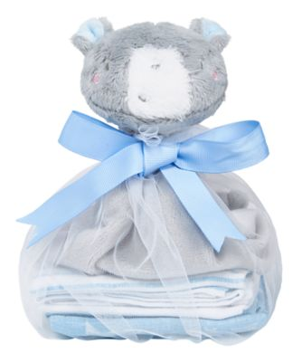 my first blue comforter and muslins gift set