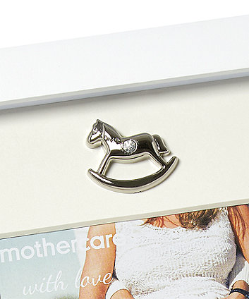 rocking horse baby scan and newborn frame
