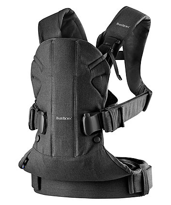 BabyBjorn cotton mix baby carrier one - black