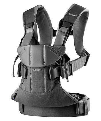 BabyBjorn cotton mix baby carrier one - denim grey/dark grey
