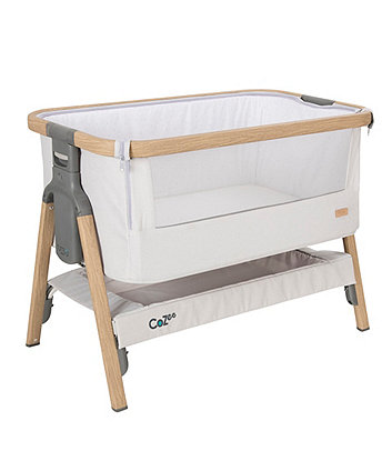 Tutti Bambini coZee® bedside crib - oak/silver *exclusive to mothercare*