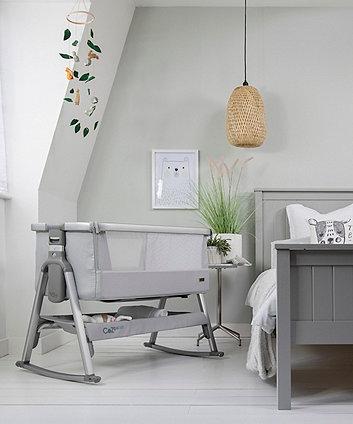Tutti Bambini CoZee air bedside crib - space grey/slate