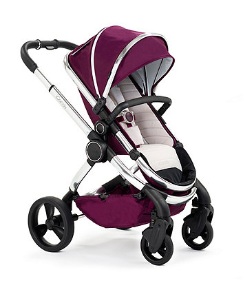 iCandy peach pram and pushchair - chrome damson