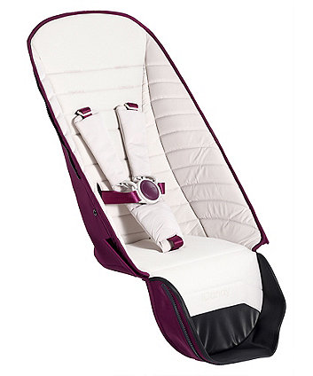 iCandy peach second seat fabric - chrome damson
