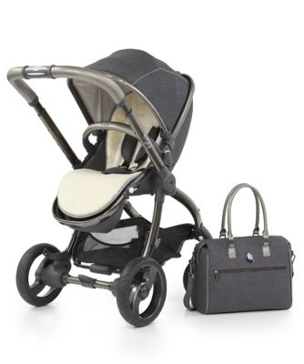 egg® stroller set with changing bag - grey pewter *exclusive to mothercare*