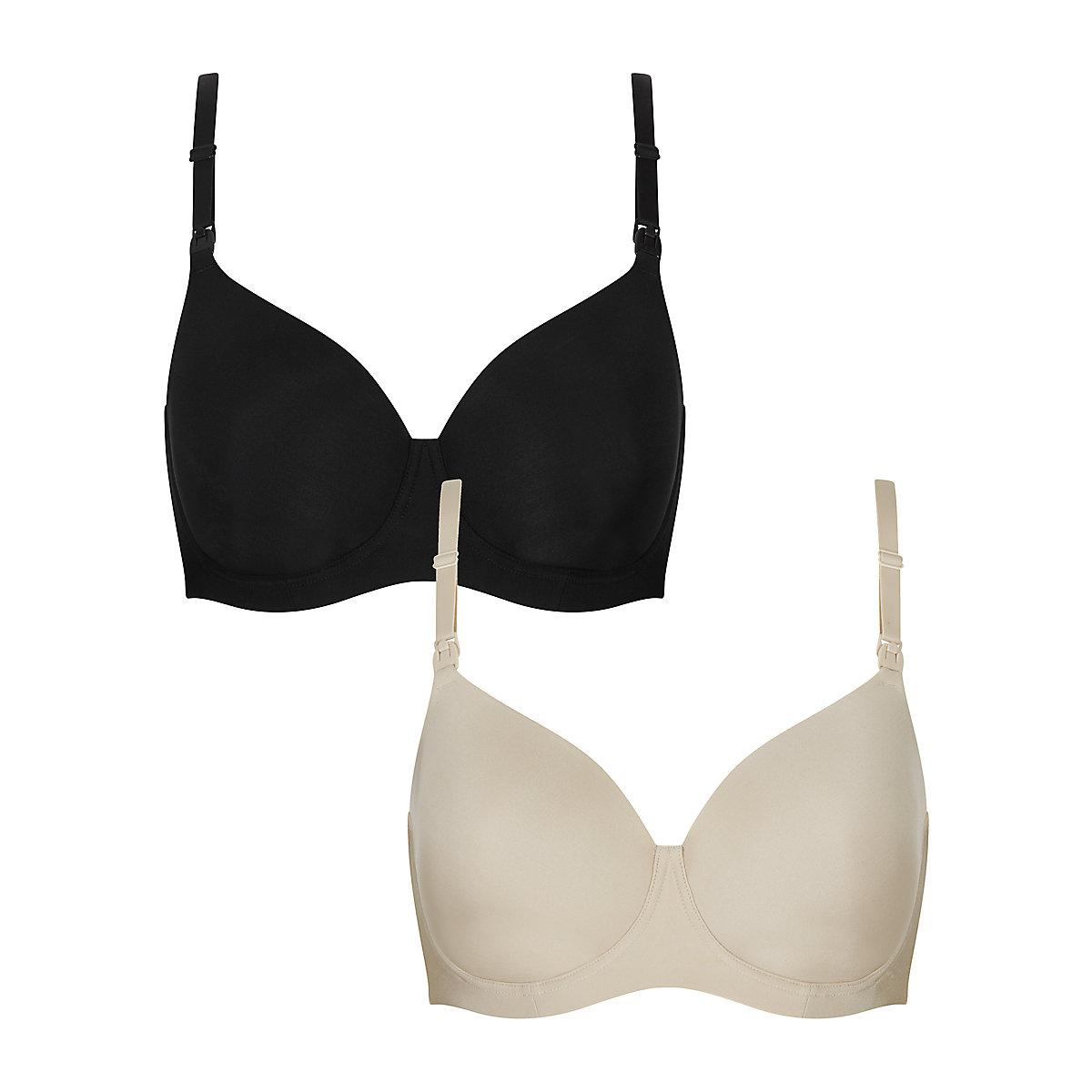 mini spot and white fuller bust nursing t-shirt bras - 2 pack