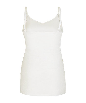 white nursing vest with inner support