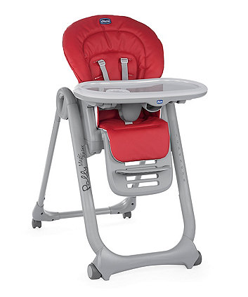 Chicco polly magic highchair - red