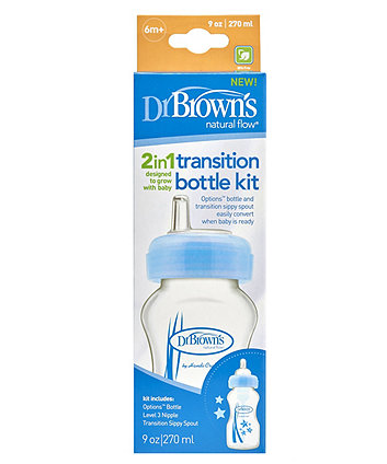 Dr Brown's 270ml transition bottle - blue