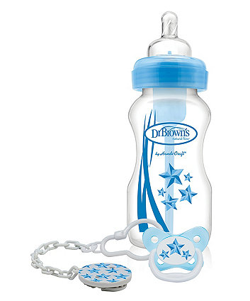 Dr Brown's options bottle and soother gift set – blue