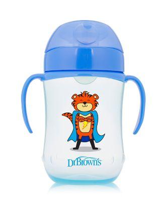 Dr Browns 9 oz/270 ml soft spout toddler cup - blue (9months +)