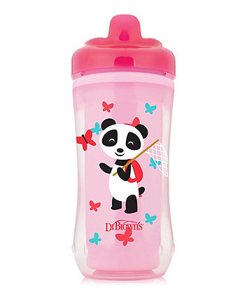 Dr Browns hard spout insulated cup 10 oz/300 ml - pink (12months+)