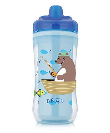 Dr Browns hard spout insulated cup 10 oz/300 ml - blue (12months+)
