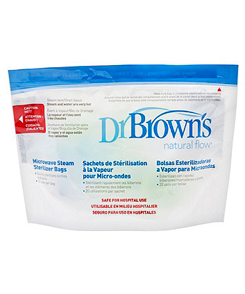 Dr Browns microwave steam steriliser bags - 5 pack