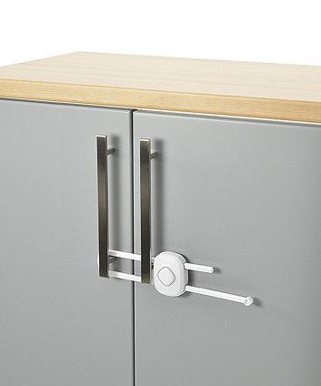 Safety 1st secret button - slide lock - white