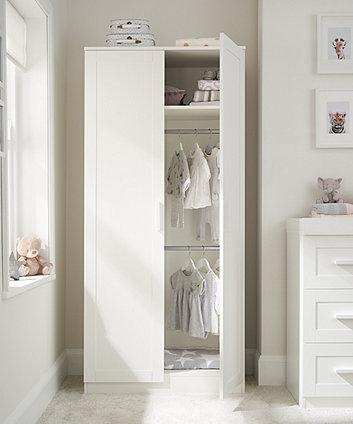mothercare stretton wardrobe - white