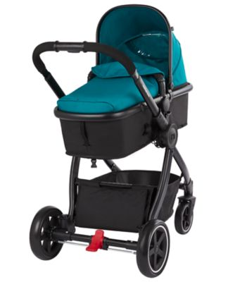 mothercare 4-wheel journey black travel system - emerald
