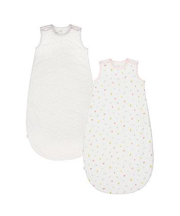 welcome home 2.5 tog pink  sleep bag (2 pack) - 6-18 months