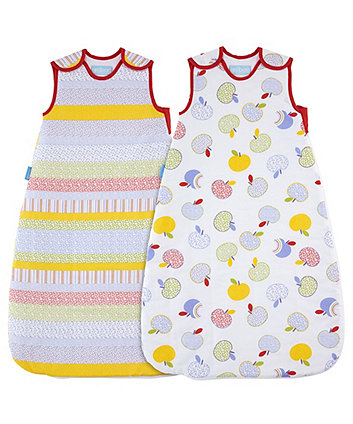 Grobag apple days wash and wear 2.5 tog sleep bags (18-36 months) - 2 pack