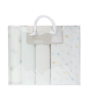welcome home mint spot bed in bag (with mesh bumper)