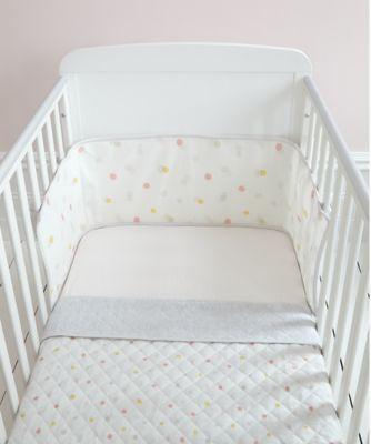 welcome home pink spot bed in bag (with mesh bumper)
