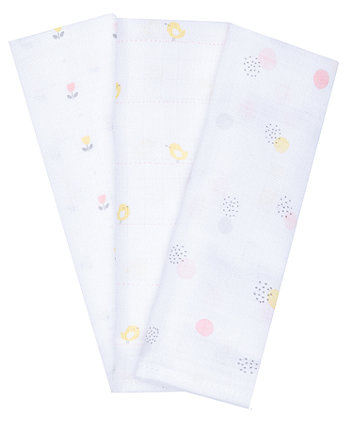 mothercare welcome home muslins pink - 3 pack