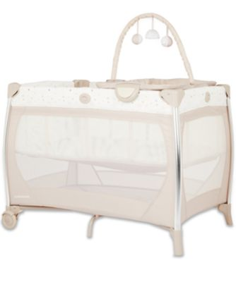 mothercare bassinet travel cot with changer and sounds unit - teddy's toy box