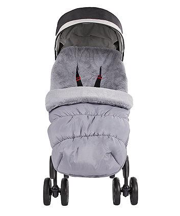 mothercare deluxe faux fur cosytoe - slate