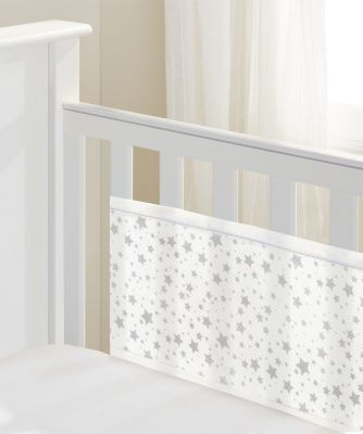 BreathableBaby 2-sided mesh cot liner - twinkle twinkle