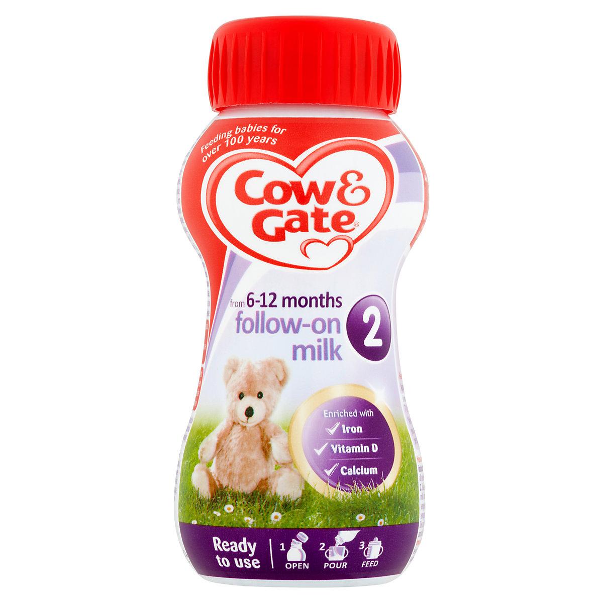 Cow & Gate 2 follow on baby milk formula 200ml