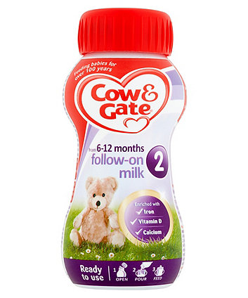 Cow & Gate 2 follow on baby milk formula 200ml