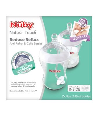 Nûby natural touch™ anti-reflux and anti-colic bottles