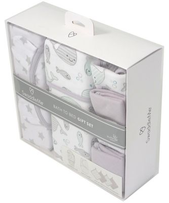 Summer Infant SwaddleMe® Bath to bed gift set - grey star